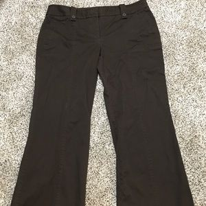 LOFT MARISA Style Career Pant Dark Brown Inseam 31